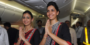 air india cabin crew on Boeing 787